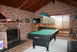 Private lounge and games room